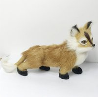 Wholesale Best Price Plastic Models - Free shipping artificial lifelike fox model figurine for home room decoration giftware best price and high quality