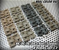 Wholesale 32Pcs in Pack Tactical Airsoft Rail Panels Covers Flat Pat Pend Colors Avaliable New panel Hunting Shooting Accessories ht065
