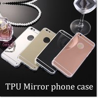 Wholesale Thinnest Sell Phones - hot selling back cover ultra thin soft mirror back tpu case Electroplating Chrome phone case for iphone 5 6 iphone 7 7plus