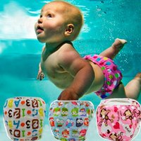 Wholesale one size diaper covers - Unisex One Size Waterproof Adjustable Swim Diaper Pool Pant Swim Diaper Baby Reusable Washable Pool Diaper 18 Color