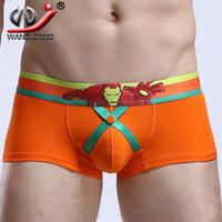 Wholesale Clothing U S - WJ underwear men sexy gay men cueca boxer brand clothing calzoncillos hombre boxer marca slip homme enhance hip U cotton underpants