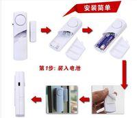 capteur de porte de fenêtre gsm achat en gros de-Capteur magnétique de porte / fenêtre supplémentaire pour système d'alarme sans fil GSM / PSTN, alarme antivol pour fenêtre de porte des accessoires de sécurité