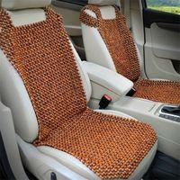 almofadas frias para carros venda por atacado-Car Natural Contas De Madeira Assento Almofada de Massagem Legal Premium Comfort Almofada Reduz A Fadiga do Carro ou Caminhão ou Assento Do Escritório