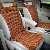 kühlwagen sitzkissen großhandel-Car Natural Holzperlen Sitzkissen Massage Cool Premium Comfort Kissen Reduziert Ermüdung das Auto oder LKW oder Büro Sitz