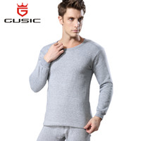 Wholesale Mens Warm Underwear Long Johns - Winter Men Long Johns Thicken Mens Thermal Underwear Sets Plus Velvet Warm Long John O-Neck Thermal Undershirts Trousers