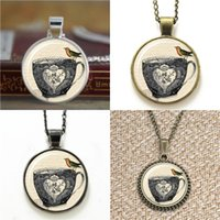 Wholesale Tea Glasses Cup - 10pcs Tea Cup Vtorian Style Jewelry Art Pendant Necklace keyring bookmark cufflink earring bracelet