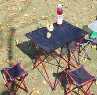 taşınabilir alüminyum masa toptan satış-2017 Açık katlanır masa sandalye, süper hafif alüminyum alaşım katlanır masa, taşınabilir masa, açık piknik masa ve sandalye, miktar olabilir