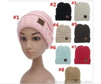 Wholesale Kids Hats Fashion Star - Cosplay Fashion kids Winter Warm Hat Knitted Hat Label Children Simple Chunky Stretchable kids Knitted Beanies Baby Hat Beanie Skully Hats