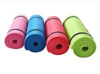 ingrosso schiuma rullo blu-Tappetini Yoga Premium Antiscivolo Eco-Friendly con tracolla 100% NBR Materiale Donna Excersize Pad 183 63 mm