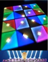 Wholesale Dj Disco Party Club Light - 2016 LED RGB Panel Dancing Dance Floor Voice Control Stage Light KTV Bar Party Disco DJ Club 720pcs LED effect Color changing Floor lights