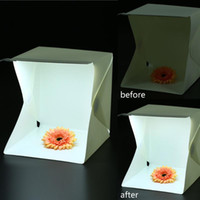 Wholesale Foldable Portable Mini Photography Lightbox Studio for iPhone Samsang LG HTC Smartphone Digital or DSLR Camera