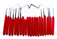 Wholesale Locksmith Tools For House - Manganese Steel 20pcs set Locksmith Lock Picks Tools With Red Handle for House Door Opener
