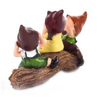 amor encantadores bebe al por mayor-Lovely Doll Combination Model Resin Craft Decoración de la boda Regalos Ornamento Romántico Amante Chica Cartoon Baby Toy Figurita