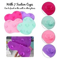 Wholesale Cosmetic Pads - Hotsale Apple shape Makeup Brush Cleaning Mat Washing Tools Hand Tool Pad Sucker Scrubber Board Washing Cosmetic Brush Cleaner Tool DHL