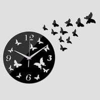 vente de montres en cristal achat en gros de-2016 nouvelle vente chaude quartz acrylique pastorale horloge murale moderne décoration de la maison luxe miroir horloges cristal montres livraison gratuite TY1997