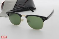 Wholesale Round Mirror Glass - 2017 New lurxu bans bens AAA+ style Sunglasses Vintage Brand Sun Glasses UV400 Men Women Glasses glass and case oculos