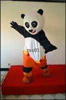 panda fantasia venda por atacado-2016 transporte rápido Traje Da Mascote Kung Fu Panda Personagem Dos Desenhos Animados Traje Adulto Tamanho Atacado Fancy Dress frete grátis