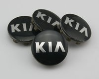 ABS outer abs - Car emblem Wheel Center Hub Cap wheel Badge covers for KIA mm Outer Diameter Black Wheel Center Hub Caps Cover pc Set