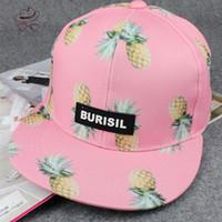 Wholesale Aba Basketball - Wholesale-Pop New 2016 Fashion Bone aba reta pineapple fruit Hat ladies Snapback Cap Men Women Basketball Hip Hop Baseball caps C015A