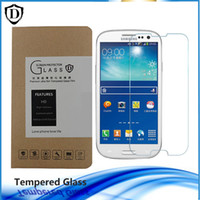 Wholesale Galaxy S4 Anti Retail - 1 pcs Tempered Glass for Samsung Galaxy S3 S4 S5 S6 S7 Note3 4 5 7 9H Screen Protector with retail box
