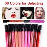 Wholesale Cheap Color Pencils - Hot Selling Cheap Sexy Beauty Long Lasting Waterproof Lip Liquid Pencil Matte Lipstick Lip Gloss 38 Colors