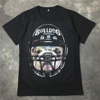 Wholesale Dog Cotton Tshirts - 2016 summer 3D print Helmet dog t shirt men cotton tees tshirts mens clothing