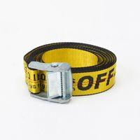 Wholesale Wide Metal Belt Silver - 2017 New fashion Off-White belt for Men or women's hiphop Canvas Belt Long Style OW metal Women Belt Virgil Abloh Industria