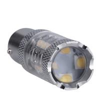 ingrosso lampadine a led per luce inversa-Luci per auto, 1x Super Bright White 80W 16 LED SMD 1156 Ba15s S25 P21W CREE Backup Reverse Light Bulb car styling