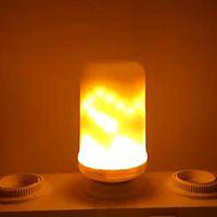 Wholesale E27 7w Cob Corn - 7W LED Flame lamp E27 E26 Light Bulb 85-265V Flame Effect Fire Lamps Creative Light Flickering Emulation For Christmas Garden
