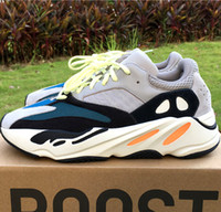 Wholesale Navy Waves - Wailly Wave Runner 700 Boost Shoes on sale,Kanye West Boost 700s Solid Grey Navy Cream Triple White Black For Men Women