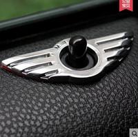 эмблема мини-автомобиля оптовых-10Pcs / lot Автомобиль Styling Insignia Emblem Wing Alloy MINI Стикер Украшение для BMW MINI Cooper R55 R56 R57 R58 R59 Ручка блокировки двери