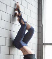 Wholesale Women S Lace Leggings - 2016 NEW Women Leggings Sexy winding lace-up Sport yoga Leggings Fitness pants Gym Legging CC307