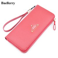 Wholesale Money Bags Red - New Designer Leather Phone Wallets Women Long Zipper Red Coin Purses Female Clutch Wallets Money Bags With Card Holders