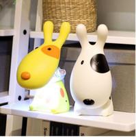 Wholesale Dog Desk Lamp - Lovely Cartoon Light 3D Dog Kids LED Night Light USB Rechargeable Children Study Table Lamp Desk Reading Light CE UL ROHS