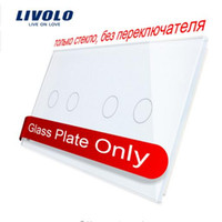 Livolo Luxury White Pearl Crystal Glass, 151mm * 80mm, témoin LED interrupteur standard UE, double vitrage VL-C7-C2 / C2-11