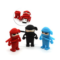 Cartoon Ninja Model Cue Lovely 8 Go 16 Go 2 Go 1 Go 4 Go Pen Drive USB 2.0 USB Flash Drive Creativo Pendrive Memory Stick