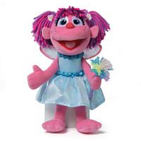 orijinalleri peluş oyuncak bebek toptan satış-Orijinal Yeni Susam Sokak Elmo Abby Peluş Bebek 32 cm Sevimli Dolması Oyuncaklar Çocuk Yumuşak Kız Oyuncaklar Hediye Çocuk oyuncak Için Peluche