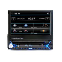 7 '' Single One Din Universal Car DVD Stereo Radio Áudio Suporte para leitor multimídia Bluetooth Handsfree Rearview Removable Panel