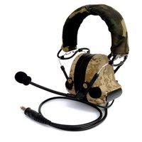 auriculares comtac al por mayor-Auriculares tácticos IPSC Disparo Reducción de ruido Cancelación Recolección de sonido Comtac II Protectores auditivos Audífonos Protección orejeras