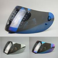 Wholesale Motorcycle Helmet Full Face Visor - Full Face Motorcycle Helmet Racing SHIELD LENS K3 K4 K4-EVO VISOR (Not For K3-SV) Colors Black, clear, Silver, Rainbow, Blue