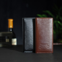 Wholesale Thin Leather Man Bags - 3pcs lot Leather mens wallets purse porte money fashion gifts for men ultra-thin wallet case clutch credit cards brands bags man size
