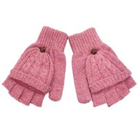 Finger Handschuhe Mädchen Warm Arm Schnee Muster Stricken Für Frauen Lange Geschenk Winter Bekleidung Zubehör