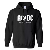 Wholesale Dc Mens Xl - 2017 Winter New fashion AC DC band rock sweatshirt Mens acdc Graphic hooded men Print Casual hoodies hip hop brand tracksuit