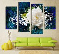 Wholesale Paint Products - 1set (4pcs) Abstract inkjet Peony decorative painting, Product Specifications: 30x60x2pcs, 30x80x2pcs, frameless