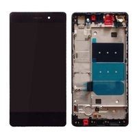 huawei shipping оптовых-Wholesale- Original For Huawei P8 Lite LCD Display With Touch Screen Digitizer Assembly With frame Black White Gold Free Shipping