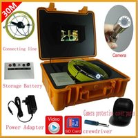 Wholesale Endoscope Dvr - 30m Cable Underwater 7'' TFT LCD Sewer Pipeline Endoscope Inspection Snake Camera Steel Lens IP68 Waterproof with dvr function
