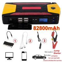 Wholesale emergency car battery starter - Professional 82800mAh Pack Car Jump Starter Emergency Charger Booster Power Bank Battery Kit 600A Free Shipping