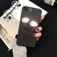 Wholesale Elegant Case For Iphone - Korean wind simple elegant rose phone case cover for 6 phone shell iPhone7   6s   plus frosted all-inclusive hard shell female models