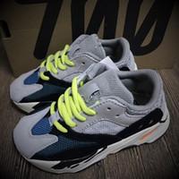 Wholesale Girls Runners - Wave Runner 700 Boost Kanye West Running Shoes Boys Girls Trainer Sneaker BOOST 700 Sport Shoe Children Athletic Shoes Grey Black Blue