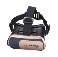 ingrosso film in vetro virtuale-VR World Virtual Reality 3D Occhiali Golden Silver Color Gioco Movie 3D Glass per iPhone Android Mobile Phone